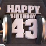 43. Geburtstag Karte Happy Birthday Kopfhörer