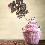 43. Geburtstag Muffin Geburtstagskuchen Happy Birthday