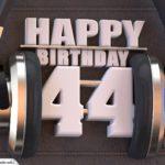 44. Geburtstag Karte Happy Birthday Kopfhörer