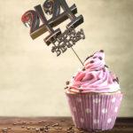 44. Geburtstag Muffin Geburtstagskuchen Happy Birthday