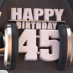 45. Geburtstag Karte Happy Birthday Kopfhörer