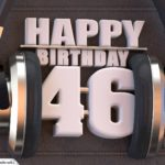 46. Geburtstag Karte Happy Birthday Kopfhörer