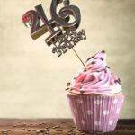 46. Geburtstag Muffin Geburtstagskuchen Happy Birthday