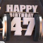 47. Geburtstag Karte Happy Birthday Kopfhörer