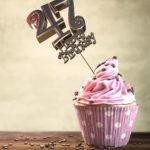 47. Geburtstag Muffin Geburtstagskuchen Happy Birthday
