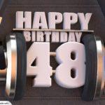 48. Geburtstag Karte Happy Birthday Kopfhörer