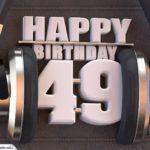 49. Geburtstag Karte Happy Birthday Kopfhörer
