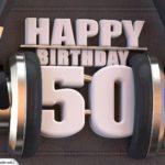 50. Geburtstag Karte Happy Birthday Kopfhörer