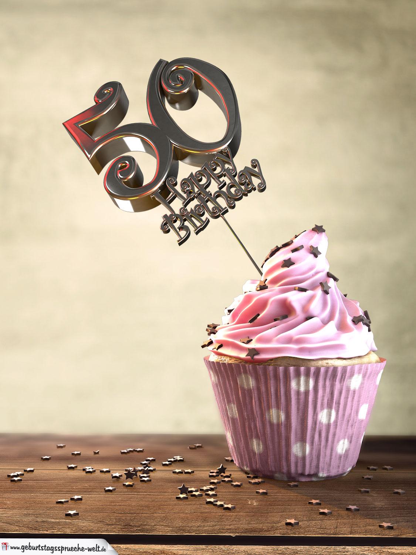 50 Geburtstag Muffin Geburtstagskuchen Happy Birthday