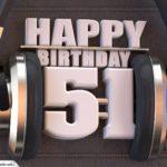 51. Geburtstag Karte Happy Birthday Kopfhörer