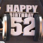 52. Geburtstag Karte Happy Birthday Kopfhörer
