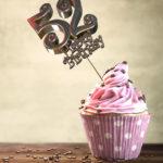52. Geburtstag Muffin Geburtstagskuchen Happy Birthday
