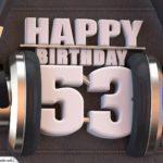 53. Geburtstag Karte Happy Birthday Kopfhörer