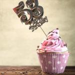 53. Geburtstag Muffin Geburtstagskuchen Happy Birthday