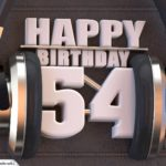 54. Geburtstag Karte Happy Birthday Kopfhörer