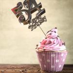 54. Geburtstag Muffin Geburtstagskuchen Happy Birthday