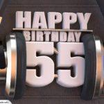 55. Geburtstag Karte Happy Birthday Kopfhörer