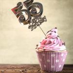 55. Geburtstag Muffin Geburtstagskuchen Happy Birthday