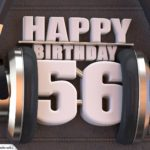 56. Geburtstag Karte Happy Birthday Kopfhörer