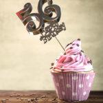 56. Geburtstag Muffin Geburtstagskuchen Happy Birthday