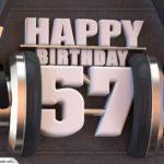 57. Geburtstag Karte Happy Birthday Kopfhörer