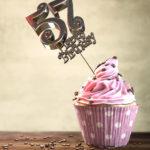 57. Geburtstag Muffin Geburtstagskuchen Happy Birthday