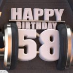 58. Geburtstag Karte Happy Birthday Kopfhörer