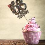 58. Geburtstag Muffin Geburtstagskuchen Happy Birthday