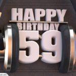 59. Geburtstag Karte Happy Birthday Kopfhörer