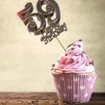 59. Geburtstag Muffin Geburtstagskuchen Happy Birthday