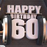 60. Geburtstag Karte Happy Birthday Kopfhörer
