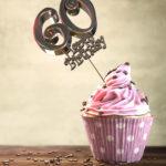 60. Geburtstag Muffin Geburtstagskuchen Happy Birthday