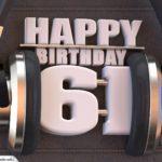 61. Geburtstag Karte Happy Birthday Kopfhörer