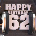 62. Geburtstag Karte Happy Birthday Kopfhörer