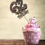62. Geburtstag Muffin Geburtstagskuchen Happy Birthday