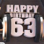 63. Geburtstag Karte Happy Birthday Kopfhörer