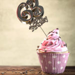 63. Geburtstag Muffin Geburtstagskuchen Happy Birthday