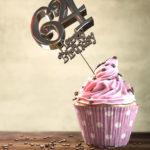 64. Geburtstag Muffin Geburtstagskuchen Happy Birthday