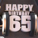 65. Geburtstag Karte Happy Birthday Kopfhörer