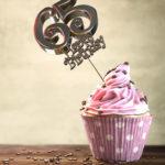 65. Geburtstag Muffin Geburtstagskuchen Happy Birthday