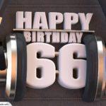 66. Geburtstag Karte Happy Birthday Kopfhörer