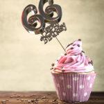 66. Geburtstag Muffin Geburtstagskuchen Happy Birthday