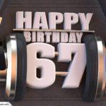 67. Geburtstag Karte Happy Birthday Kopfhörer