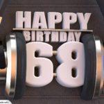 68. Geburtstag Karte Happy Birthday Kopfhörer