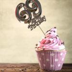 69. Geburtstag Muffin Geburtstagskuchen Happy Birthday