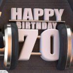 70. Geburtstag Karte Happy Birthday Kopfhörer