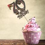 70. Geburtstag Muffin Geburtstagskuchen Happy Birthday