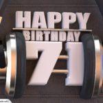71. Geburtstag Karte Happy Birthday Kopfhörer