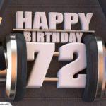 72. Geburtstag Karte Happy Birthday Kopfhörer