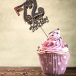 72. Geburtstag Muffin Geburtstagskuchen Happy Birthday